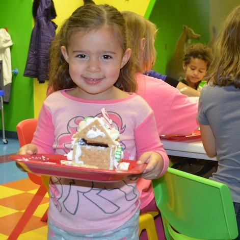 Santa Visit & Gingerbread House Building