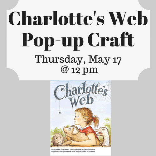 Charlotte's Web Pop-up Craft