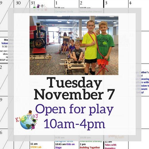 Get Out to Play on Election Day!