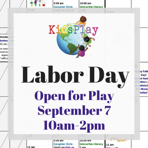 Open for Play on Labor Day!