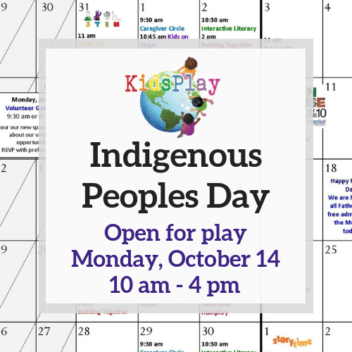 Open for Play on Indigenous People's Day