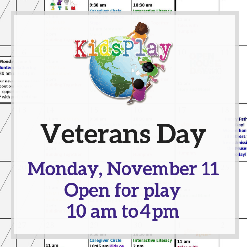 Open for Play on Veteran's Day