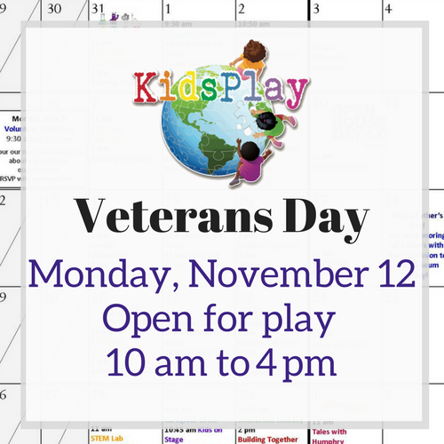Open for Play on Veterans Day!